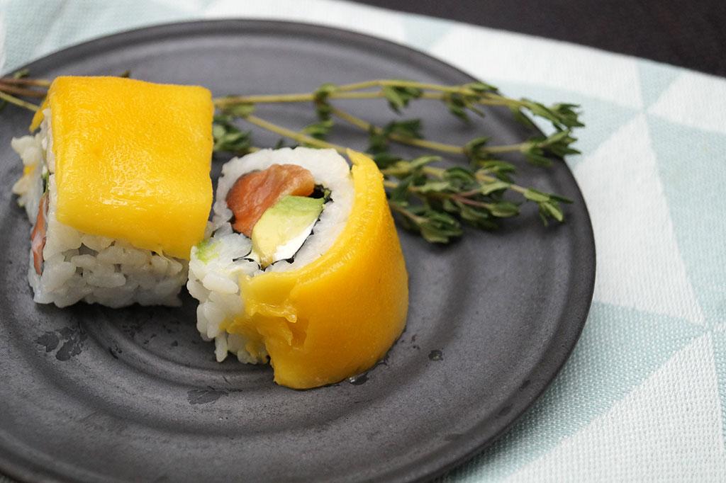 Sushi-Komposition auf 3PunktF Platte